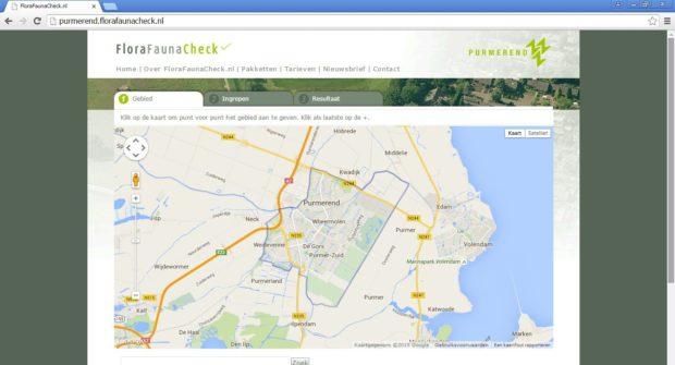 Op FloraFaunaCheck.nl heeft iedere gemeente zijn eigen portal. In dit geval de portal van Gemeente Purmerend.