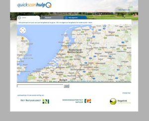 Printscreen van de webapplicatie quickscanhulp.nl.